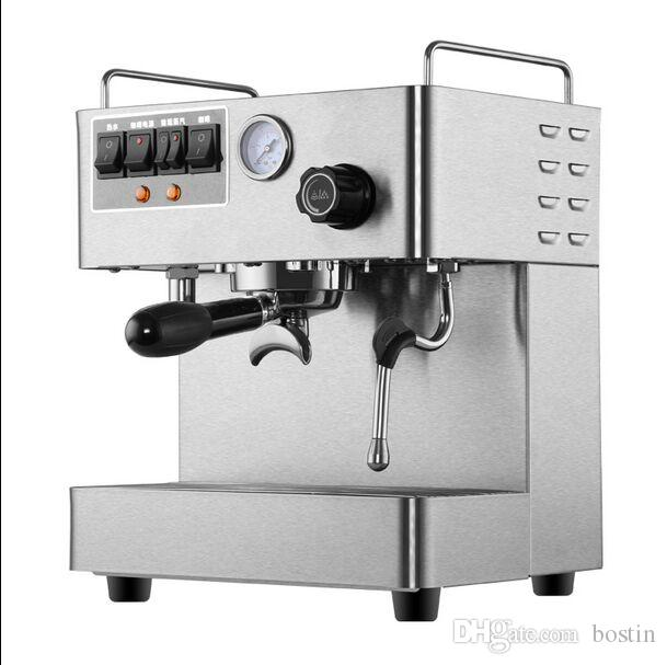 Neue CRM-3012 Handelsdampf-Espressomaschine 220V 1.7L Doppelkessel-Edelstahl-Kaffeemaschine