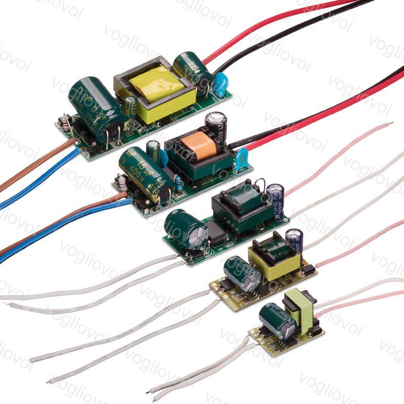 Transformateurs d'éclairage 300MA 110 220V 240V IP20 1-3W 4-7W 8-12W 13-18W 18-24W pour Downlight Bulbe Spotirlight intégré Pilote PCB EUB