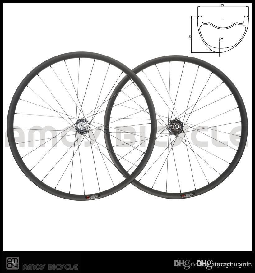 Smooth&fast forward carbon mtb wheelset crossmax 29er AM asymmetrical 35*25mm bicycle wheels offset rims for enduro racing