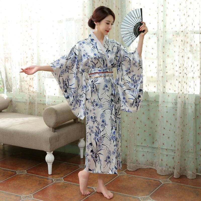 ropa japonés antiguo animado partido de Cosplay Asia Islas del Pacífico Vestido tradicional kimono japonés de las mujeres de largo elegante vestido