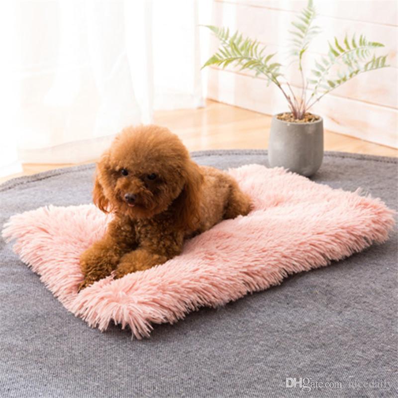 Inverno del cane Letto Cuscino morbido tappeto in pile dell'animale domestico del cucciolo del gatto caldo della base di sonno coperta per piccolo medio grande Cani Gatti Kennel