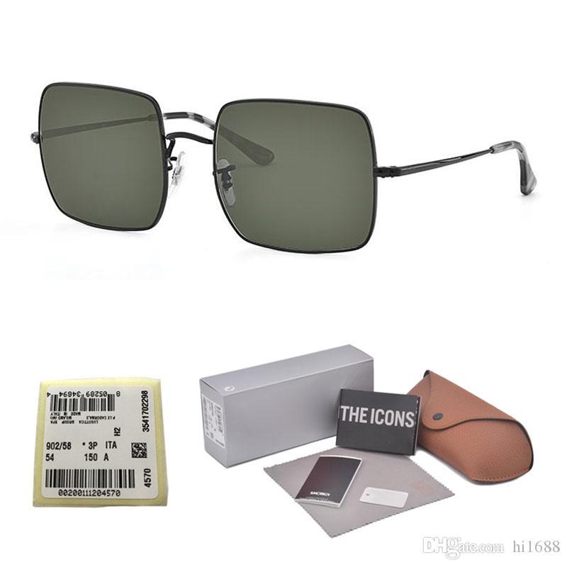 Brand Design Big Frame glass lens Shades Oversized Sunglasses Square Vintage Women men Fashion Sun Glasses Oculos De Sol with Retail box