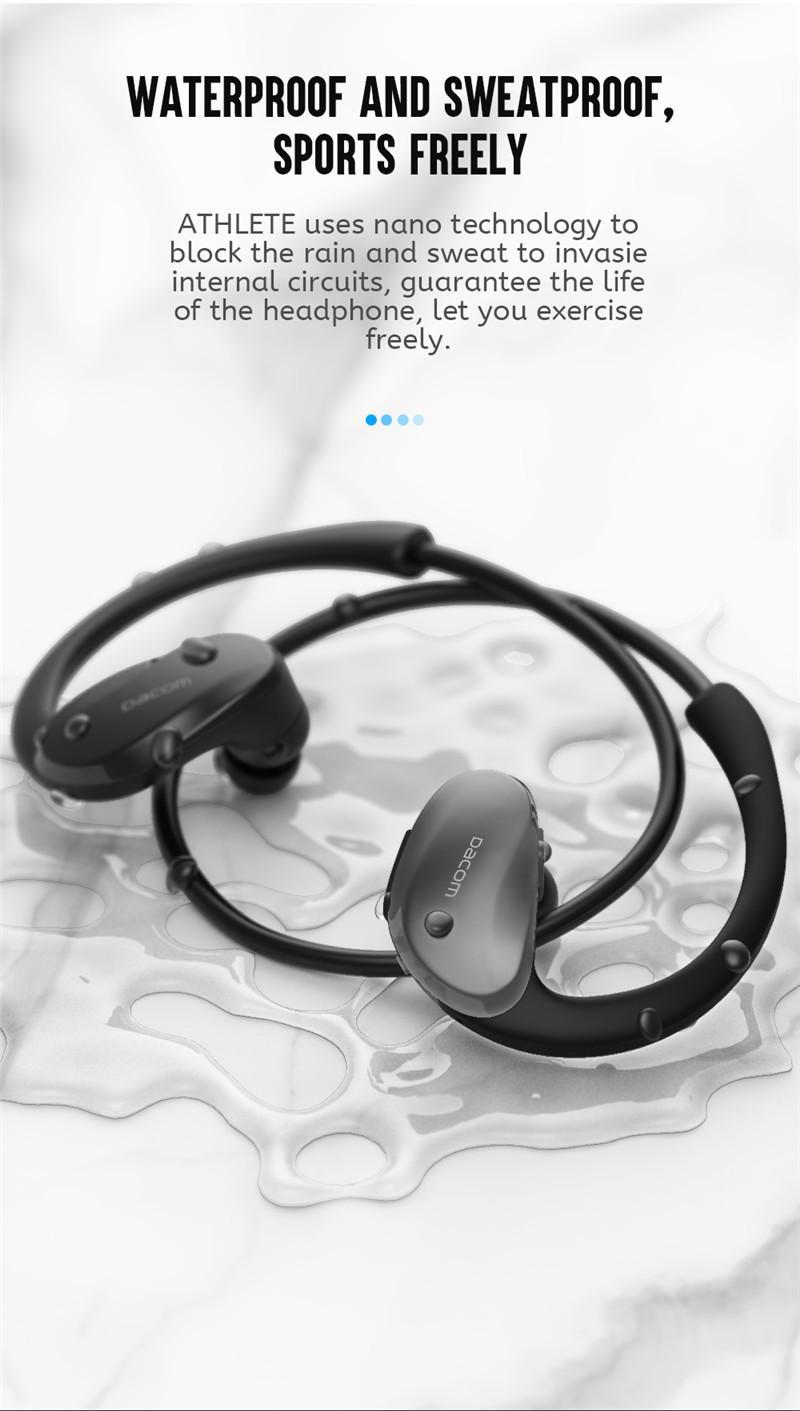 Dacom Armor Athlete Waterproof Running Sports Wireless Headphones Bluetooth Earphones Headset Head Ear Phones with Handsfree Mic