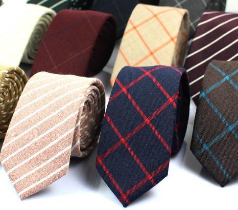 Classic Mens Cotton Ties Novo Design Limite gravatas 6cm magros da manta Laços para homens formal do partido de casamento Negócios