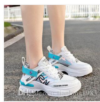 New Designer korean white Platform Sneakers Thick bottom Casual Shoes Women 2019 Fashion Luxury White Chunky Sneakers leather Basket Femme