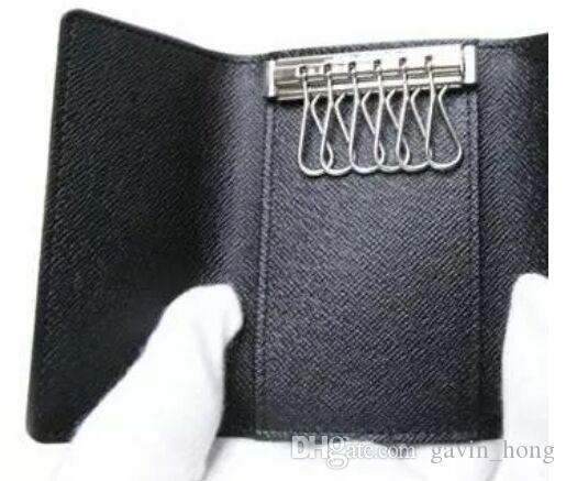Free Shipping!brand new women genuine Leather popular 6 Designer keys purse wallet hand holder small bag with box 62630