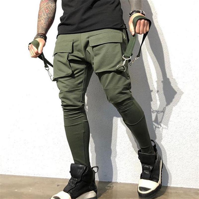 Compre Hombres Bolsillo Grande Hip Hop Estilo Pantalones Manera De La Cadena Para Hombre Del Disenador De Los Pantalones Del Lapiz Casual Hombres Ropa A 22 42 Del Tommyshorts Dhgate Com