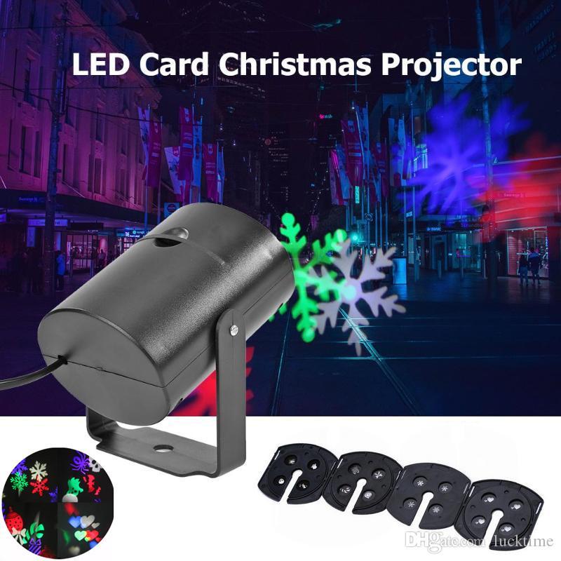 Modelo de la Navidad LED de proyección de láser de colores efecto giratoria etapa proyector colorido de la lámpara de proyección giratoria de la etapa del disco de DJ de la lámpara LED