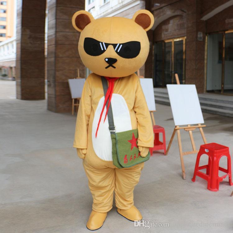 Teddy brown bear Maskot Kostümleri Karikatür Karakter Yetişkin Sz 100% Gerçek Resim