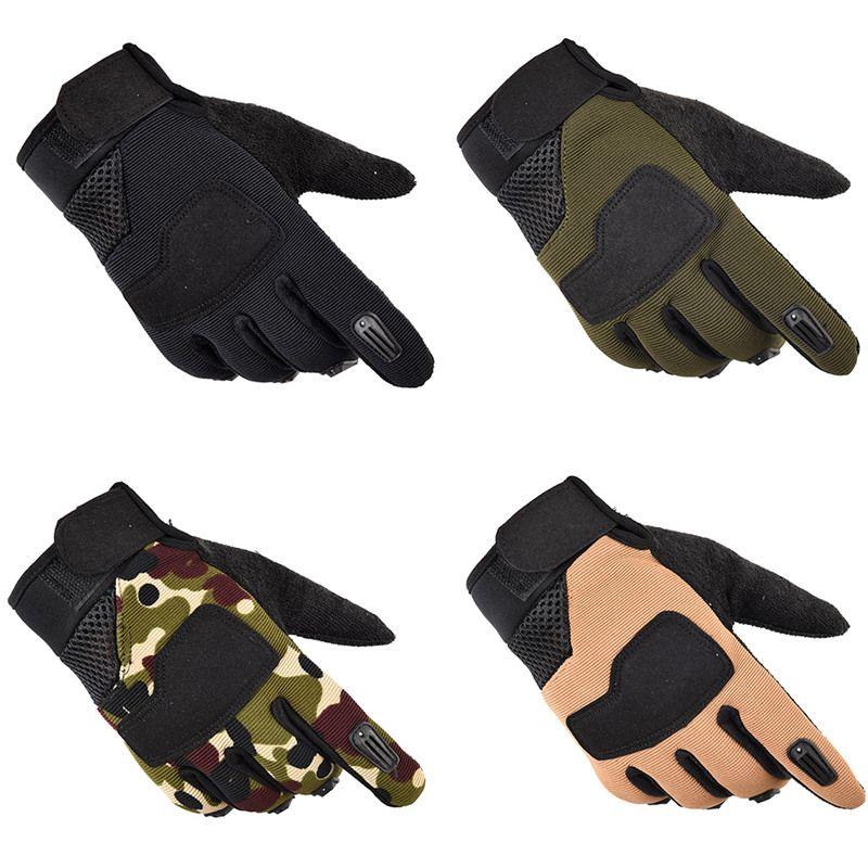 2019Newest 1 Par de alta calidad camping al aire libre tácticos militares de los guantes Guantes de entrenamiento deportivo dedo guantes Senderismo juego completo