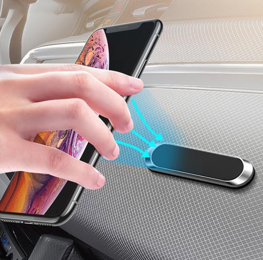 Бизнес металлическая лента магнитный автомобильный держатель телефона наклейка подставка для мобильного телефона крепление для IPhone se 2 XR 11 Xiaomi samsung Huawei