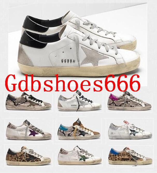 Italia Deluxe Bianco Marca Oro Superstar Oche Sneakers Retro Do-Sporco vecchio Scarpe 2020 uomini / donne piatto Sport Casual Shoes Size US5-11