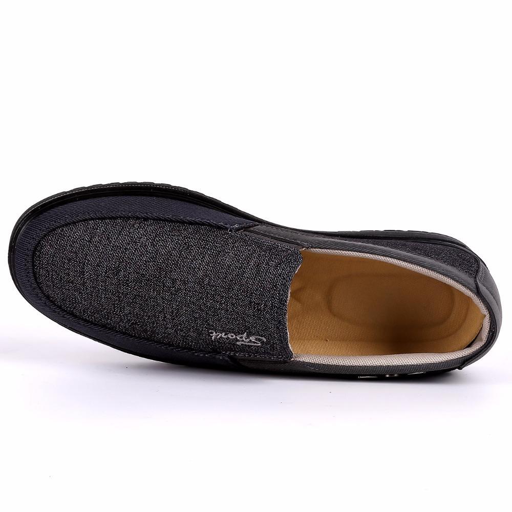 2018 Nouvelle arrivée Printemps Été Chaussures Casual confortables Hommes Chaussures de toile pour les hommes Confort Chaussures Marque Mode plat Mocassins Chaussures