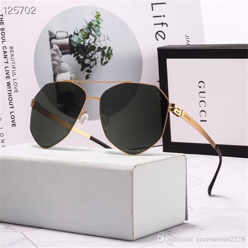 Metall mit hohen Qualität Flieger-Stil Herren-Sonnenbrille Sonnenbrille der Frauen 3 Farben für den Sommer Luxus-Brille super Qualität Großhandels