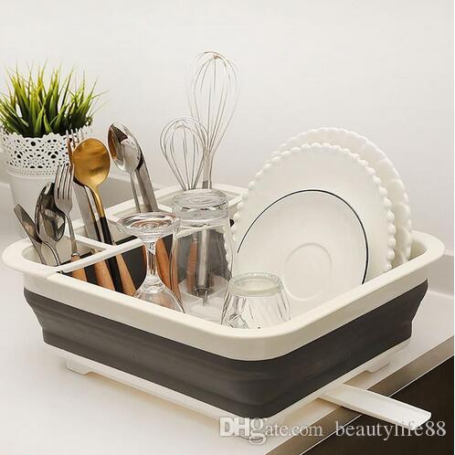 طوي طبق رف المطبخ تخزين حامل تجفيف وعاء المائدة لوحة المحمولة تجفيف الرف المنزل الجرف المائدة المنظم