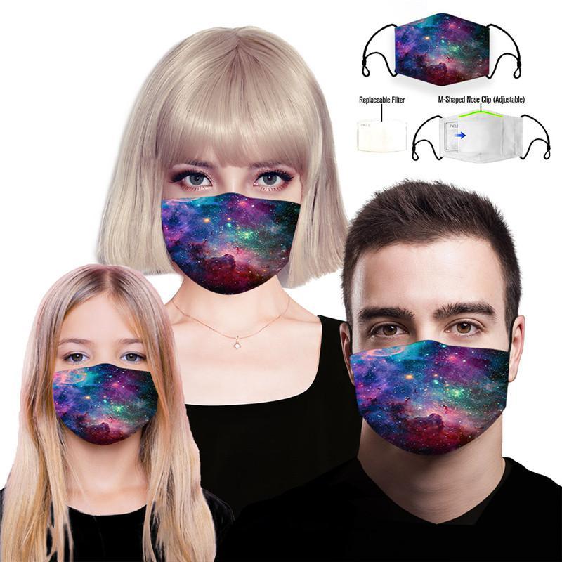 Дизайнерские Маски многоразовые Защитные РМ2,5 Фильтр печати Mouth Маска Анти пыли маска ветрозащитный рот муфельной 84 стилей DAMON017