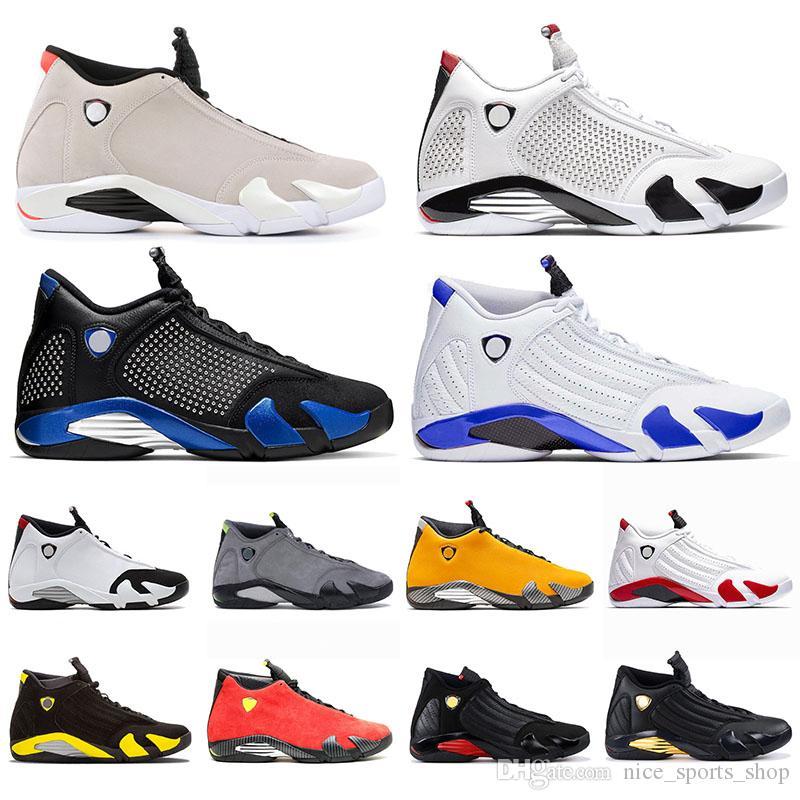 Nike Air Jordan Retro 14 14s Jumpman Hiper Kraliyet Çöl Kumu Erkek Basketbol Ayakkabı Ferr Sarı Şeker Kamışı SPM Beyaz Kırmızı Süet Erkekler Eğitmenler Sneakers x Ters