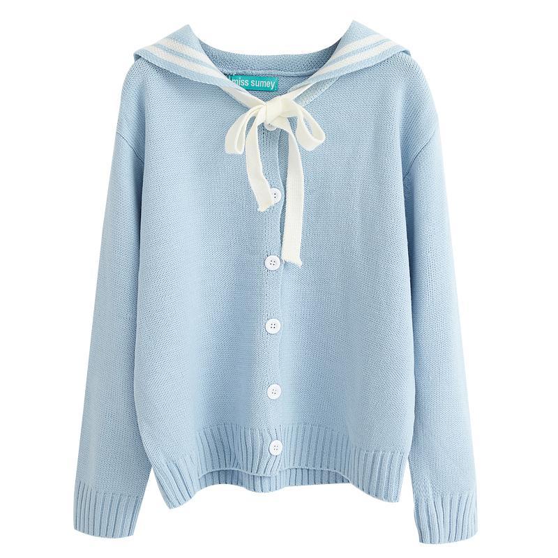 Damas sueltas Outwear Invierno Estilo Preppy Ropa de punto Cute Harajuku Kawaii Lotita Otoño Mujeres Suéteres y Pullovers sh190716