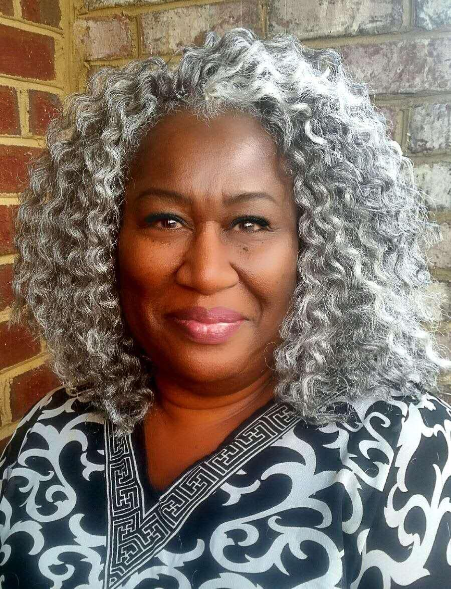 Gerçek Saç Kinky Kıvırcık Gri Attail Postişi Gümüş Gri Tığ Örgüler Afrika Amerikan İpli Klip Gri Saç Uzatma 120g 140g