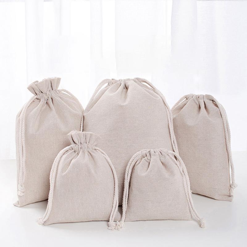 린넨 졸라 파우치 가방 재사용 쇼핑 가방 파티 사탕 호의 자루 선물 포장 저장 가방 DHL WX9-1488
