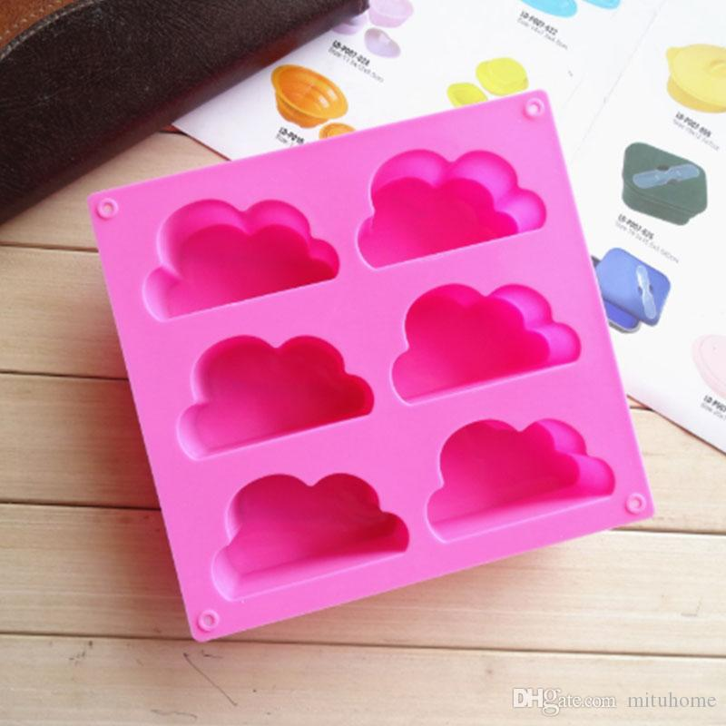 1pcs Flaky Clouds Green Good Quality 100% Food Grade Silicone Cake Mold/Chocolate Mold/Muffin Cupcake Pan Mold