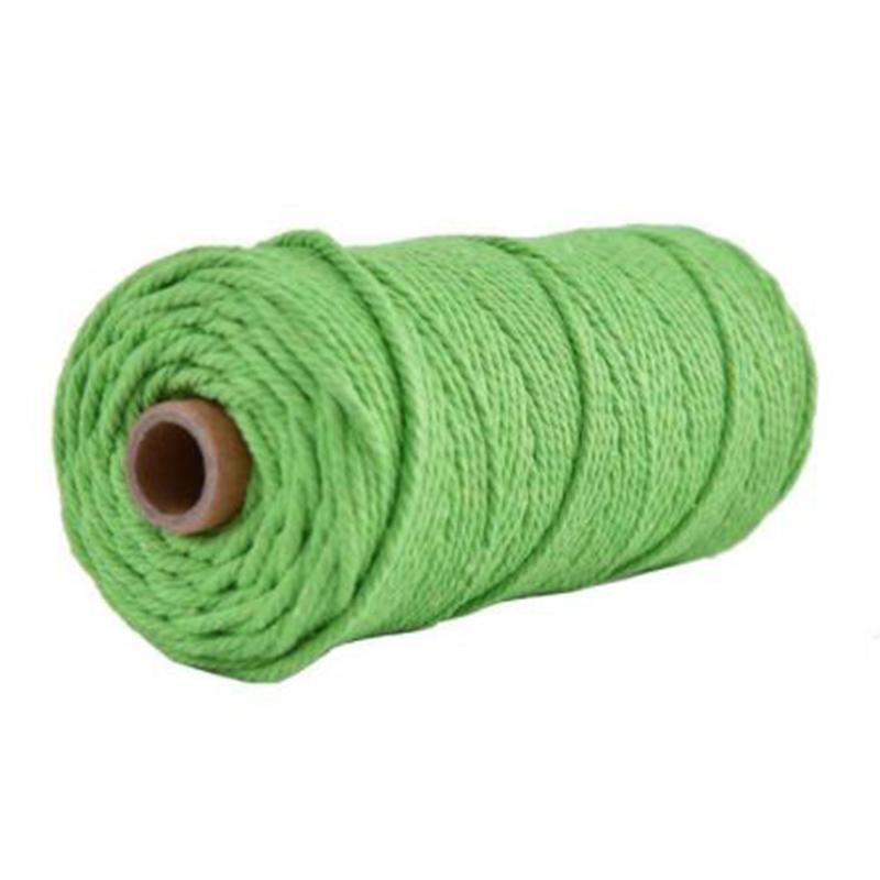 Новый 100м 100% натуральный хлопок Строка витой шнур Craft Макраме Artisan 3мм Stock