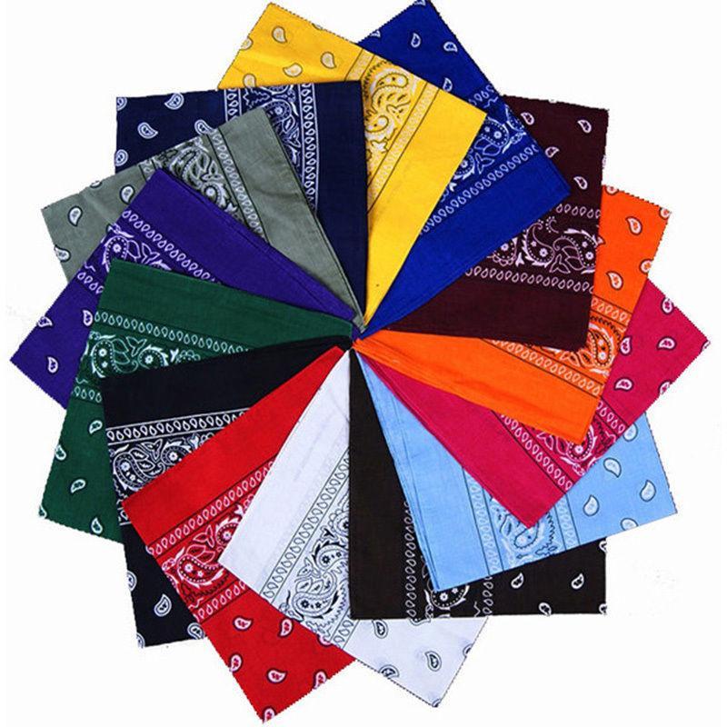Newest 100% Cotton Hip-hop Bandanas For Male Female Head Scarf Scarves Wristband Vintage Pocket Towel Hot Selling Soft