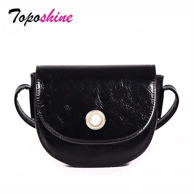 Alta qualità Toposhine solido del doppio di colore piccolo sacchetto femminile casuale di nuovo modo selvaggio Temperamento Shoulder Bag Messenger