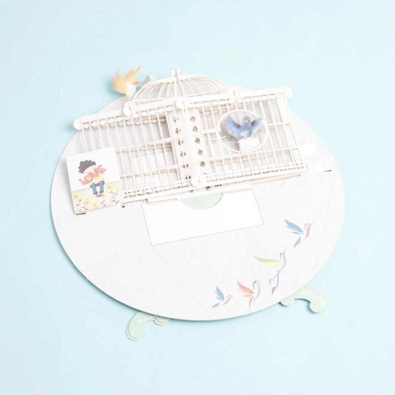 3D Paper Laser Cut Pop Up Greeting Cards Creative Handmade Love Bird Cage Birthday Anniversary Postcards Gifts Other Event Party Supplies