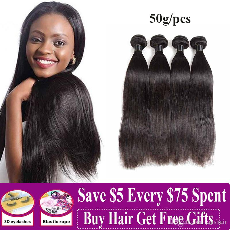 Brazilian Remy Hair Bundles Loose Deep Human Hair 3/4 Bundles Straight Body Deep Water Wave Human Hair Weave Extensions 50g/pcs