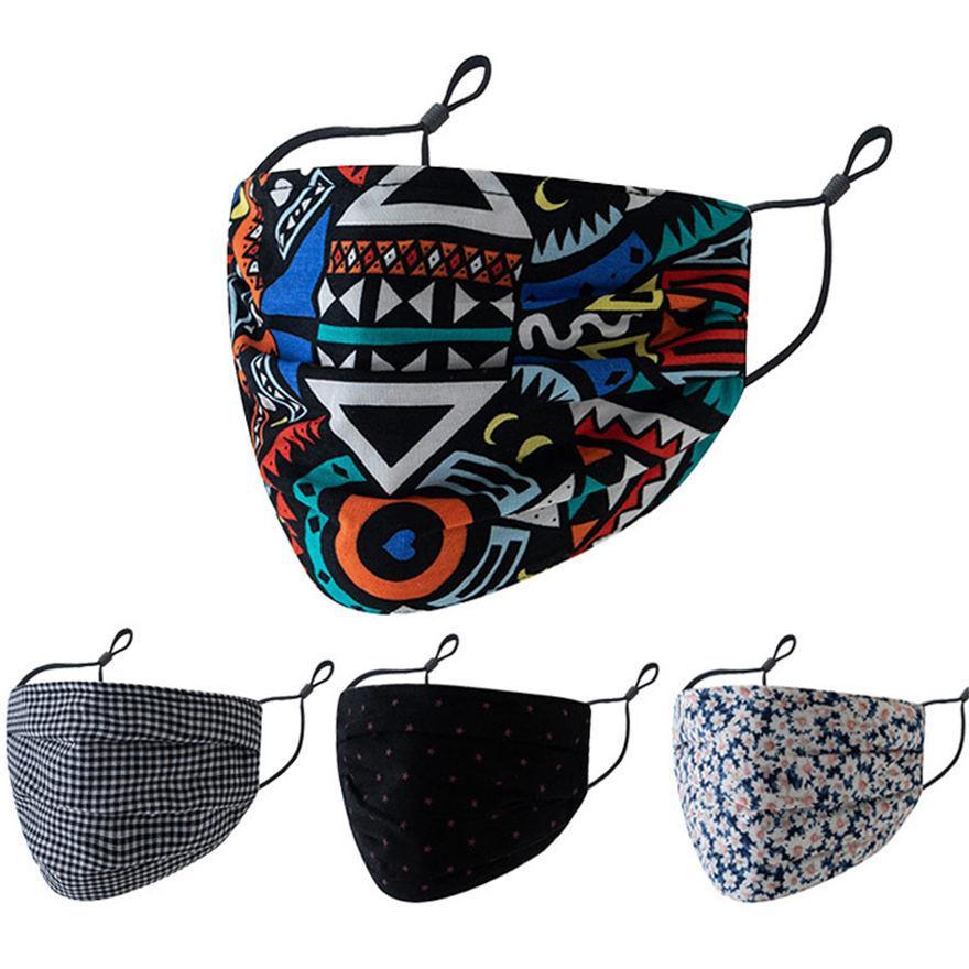 2021 Designer Gesichtsmaske Männer Frauen Mode Schwarz Halloween Masken Nähen Dreidimensionale Waschbare Baumwolle Einstellbare Gesichtsmaske