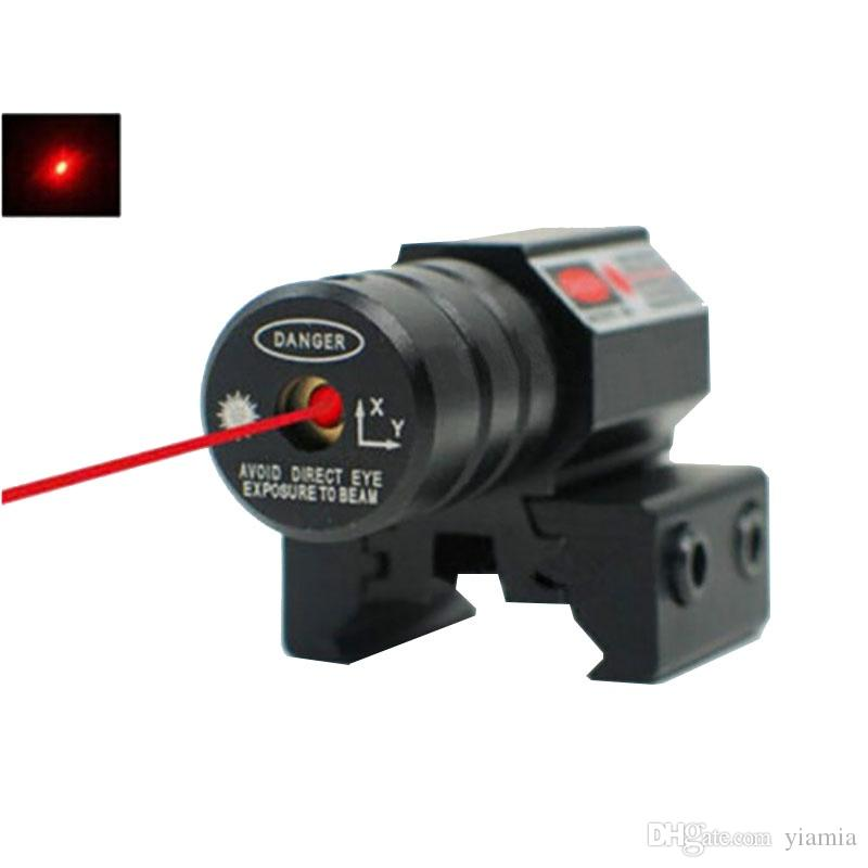 Охотничья область тактическая мини-красная точка лазерная зрение ткача Picatinny Mount набор для пистолетной винтовки пистолет выстрел airsoft riflescope