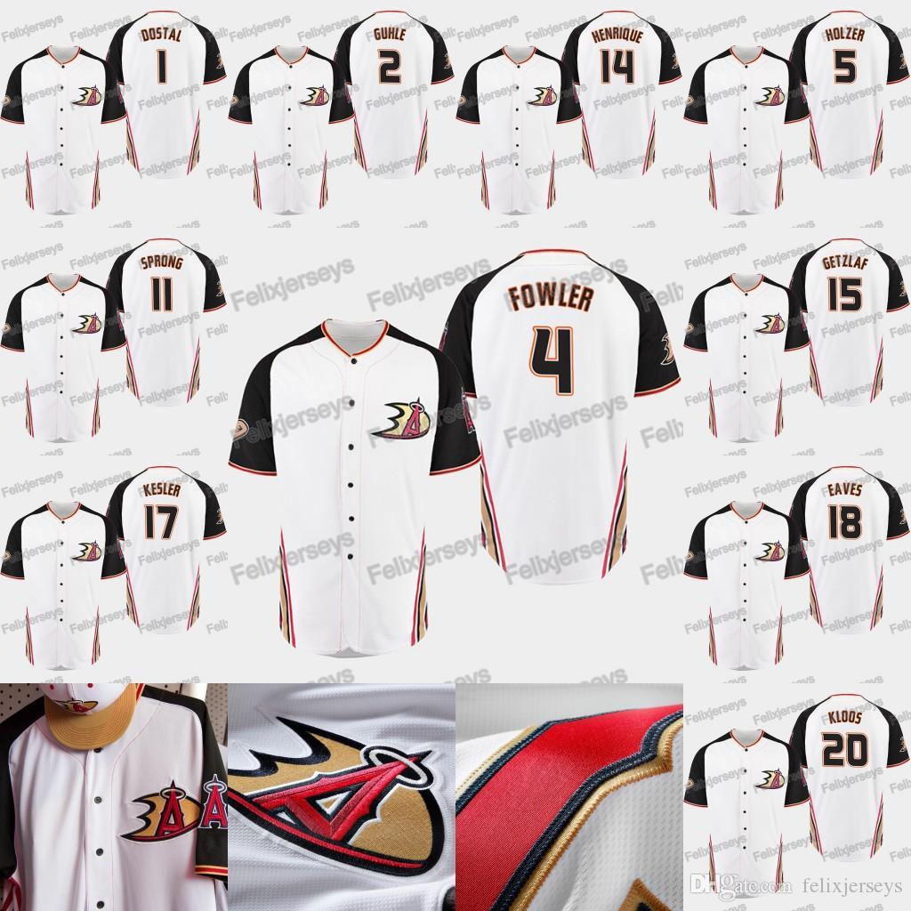 2019 Anaheim Ducks Crossover 14 Adam Henrique Daniel Sprong Korbinian Holzer Cam Fowler Brendan Guhle Lukas Dostal Baseball Jersey