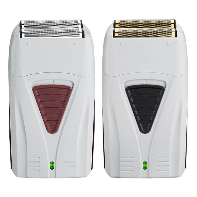 USB Recarregável Barbeador Forte Dual-rede Barbeador Elétrico Portátil Reciprocação Navalha de Carregamento Único Malha Elétrica Navalha
