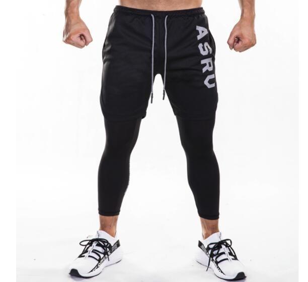 100/% Cotton Retro Style Duck Silhouette Activewear Men Elastic Sweatpants