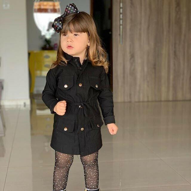 Kış ceket bebek kız ceket 2019 çocuk kızlar uzun kollu kış sıcak giyim yaka boynuz düğmesi moda çocuk rüzgarlık