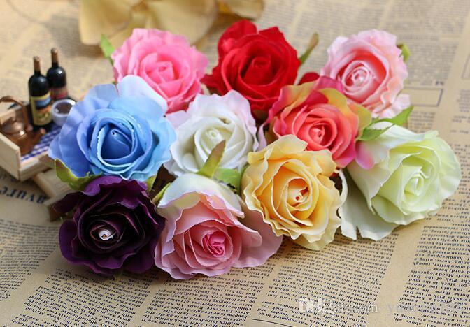 imitation de haute qualité rose fleurs décoration murale de mariage en plastique artificielle artificielle fleur artificielle WL530