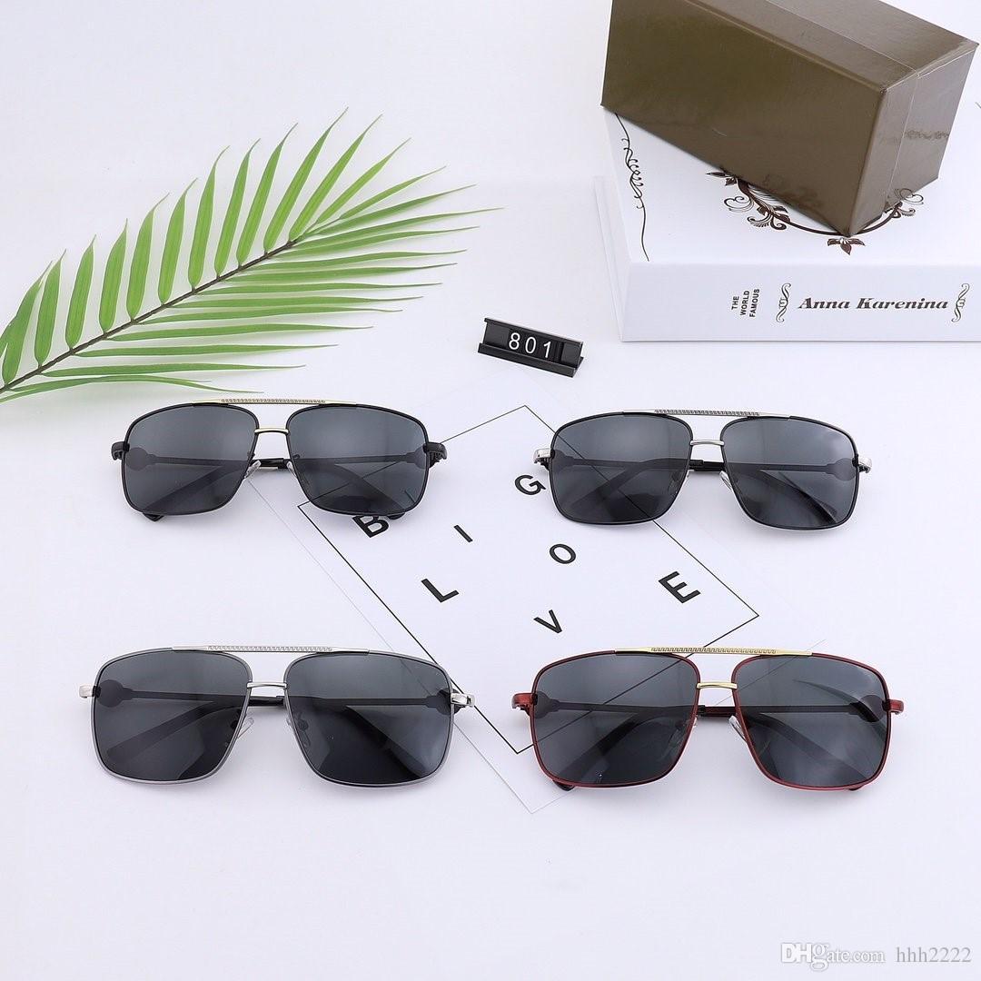 2020 novos óculos polarizados ciclismo retro moda masculina óculos de sol de 801 vendas por atacado e directo 801