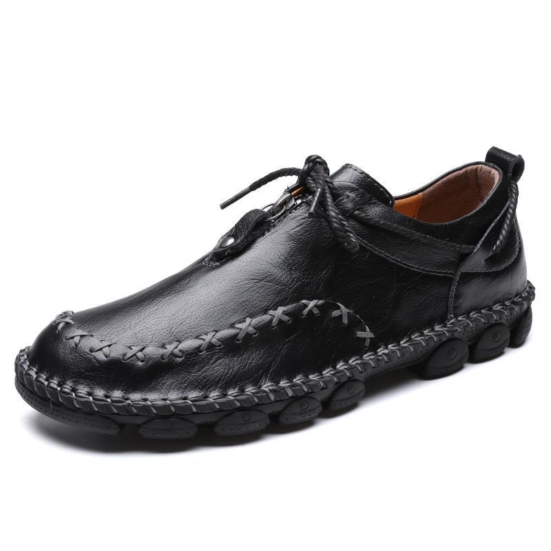 Grande taille 38-48 Chaussures confortables Casual Mocassins Hommes Chaussures de haute qualité Chaussures en cuir véritable hommes Flats Mocassins Driving