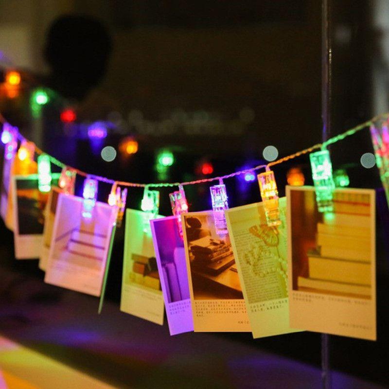 LED Fotoğraf Klip Dizeleri Işık Duvar Asılı Kart Resim Klipler Dize Noel Partisi Düğün Için Sevgililer Dekorasyon Lambası