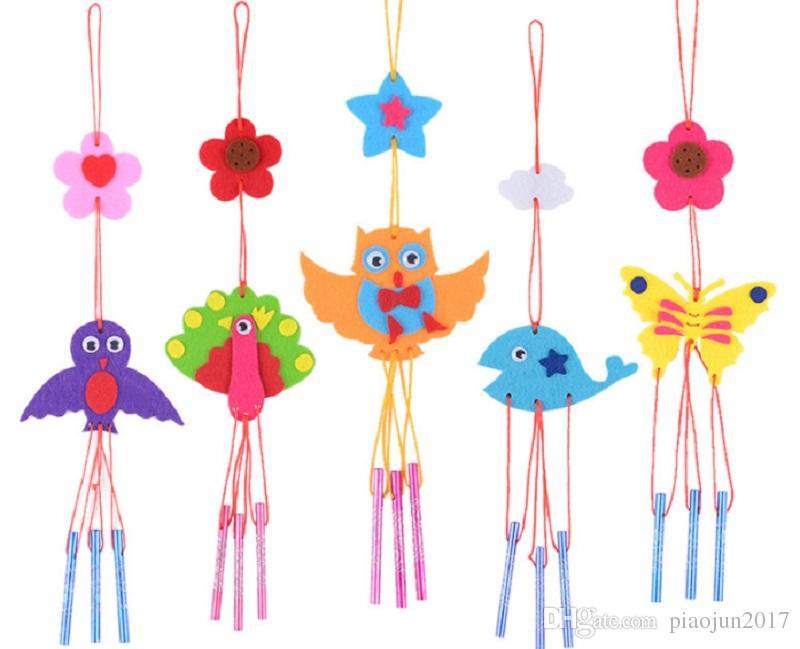Campanelli eolici La decorazione interna perfetta per la casa, decorazione fai da te a mano in tessuto non tessuto fai da te per bambini (colore casuale)