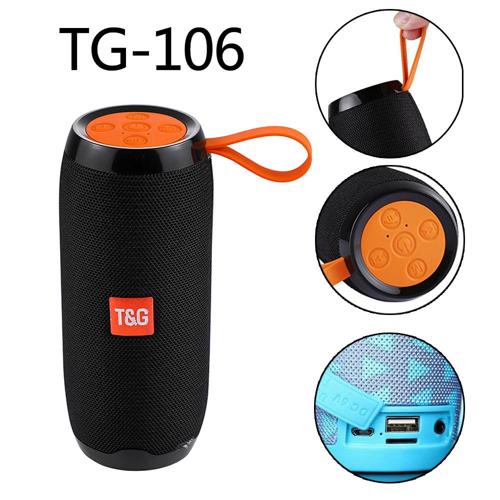 TG106 Bluetooth Outdoor Speaker Portable Wireless Column Loudspeaker Box Soundbar Black Red Blue Outdoor Sports Music Play TG Series Speaker