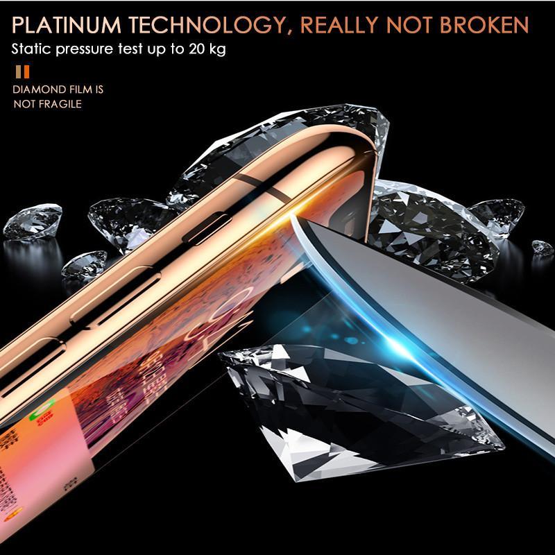 Full Cover 5D vetro temperato Su per Iphone 7 8 6 6s plus della protezione dello schermo pellicola protettiva per Iphone 11 Pro X Xs Max Xr curvo bordo