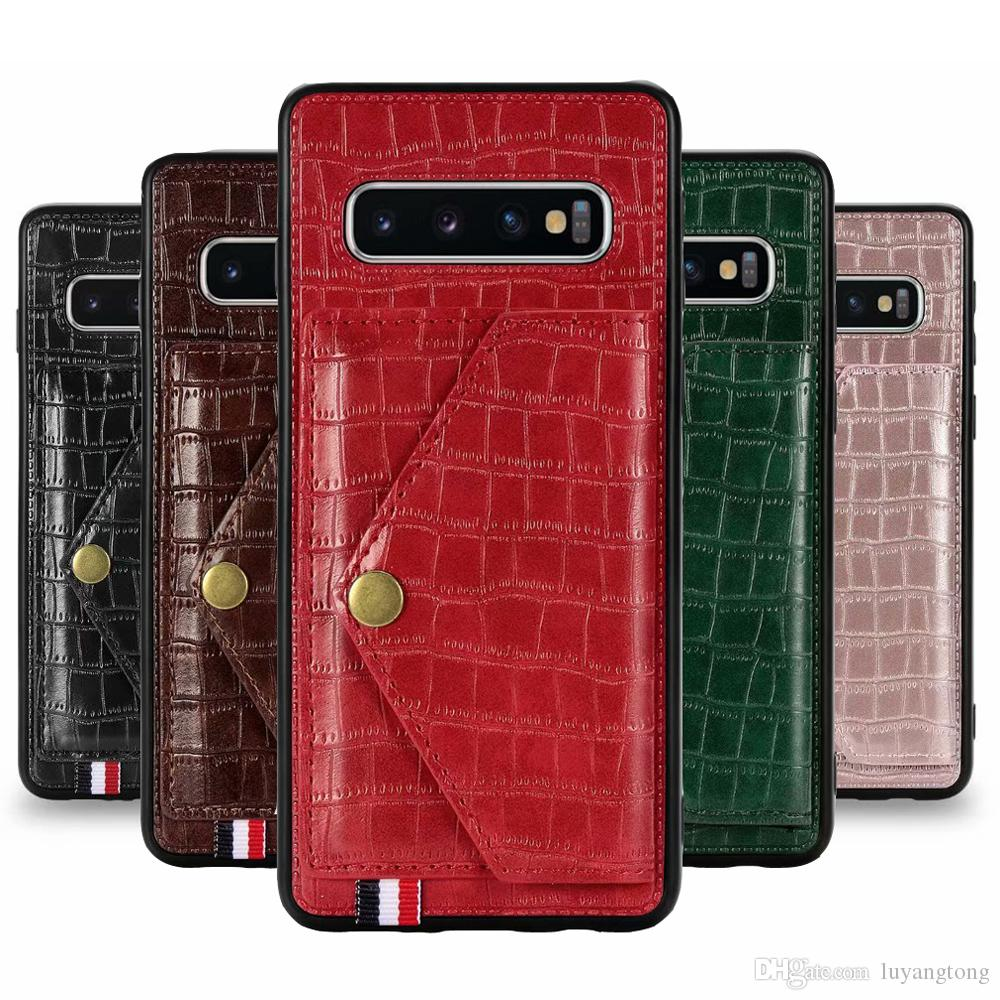 Pour Samsung Galaxy S10 plus Housse en cuir pour Galaxy A51 A70 A71 A30 A50 A30S A50S luxe Carte de crédit Titulaire COUVERTURE