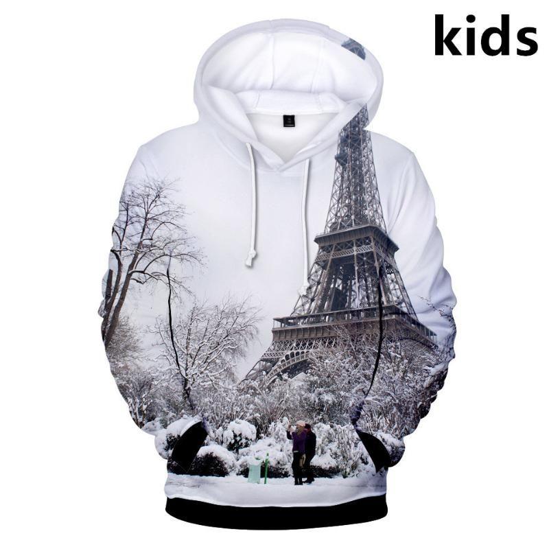 Paris Eiffel Tower Kid/'s T-Shirt Children Boys Girls Unisex Top
