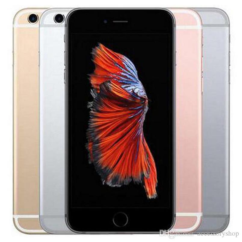 تم تجديده الأصل ابل اي فون 6S 4.7 بوصة مع بصمات الأصابع IOS A9 2GB RAM 16/32 / 64 / 128GB ROM 12MP مفتوح 4G LTE الهاتف DHL 1PCS