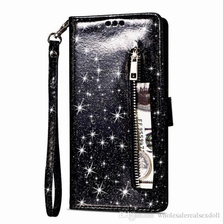 Cep Telefonu Kılıfları goophone Samsung S20 + S20 Ultra lüks Glitter Pembe Fermuar Kılıf