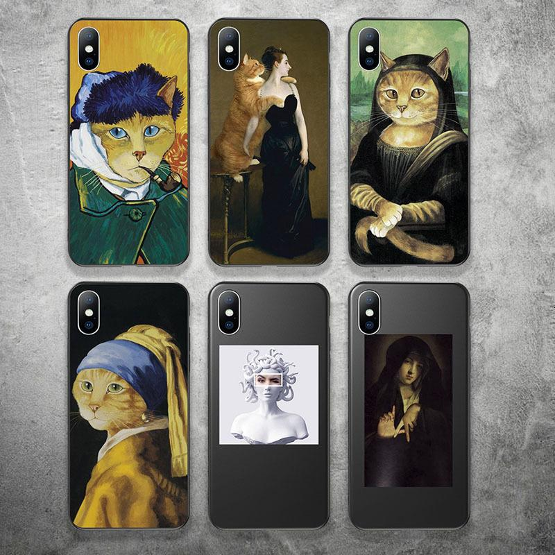 The Abstract telephone sleeve of love art is the iPhone XR XS Max 11 Pro Max 8 6S 6 plus soft silicon TPU sealed animal coke sleeve.
