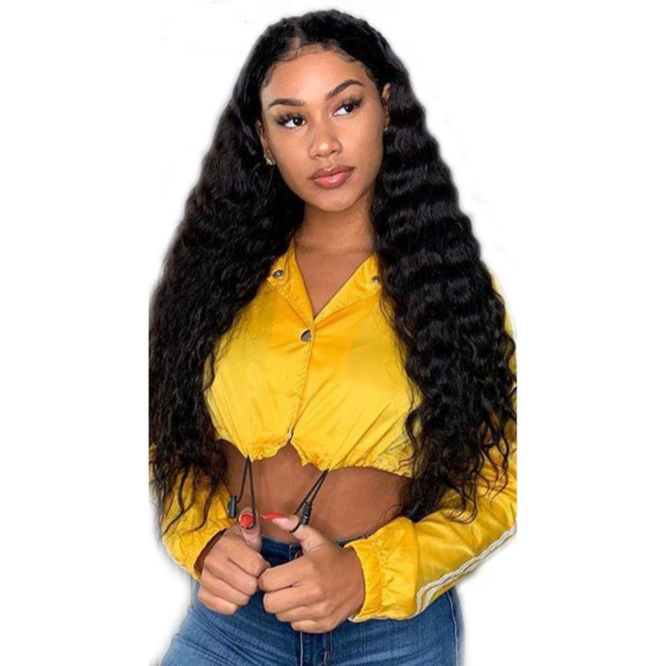 Loose Deep Wave Lace Front Wigs with Baby Hair Malaysian Virgin Human Hair Lace Wig Bleached Knots for Women