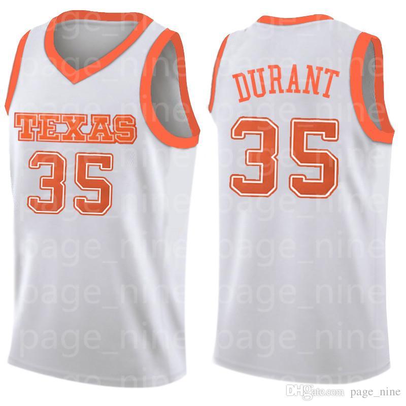 16 Thailand qualidade Universidade NCAA do Texas 35 Kevin Durant Jersey Charles Basketball Jersey gddfgrgreg